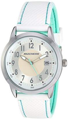 Skechers Women's Haynes Quartz Metal and Silicone Casual Watch