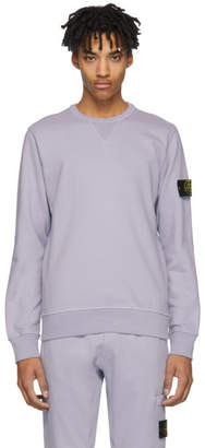 Stone Island Purple Arm Badge Sweatshirt