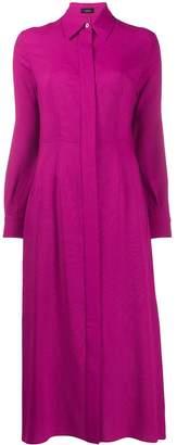 Joseph long-sleeve flared shirt dress
