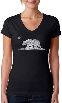 LOS ANGELES POP ART Los Angeles Pop Art California Bear Graphic T-Shirt
