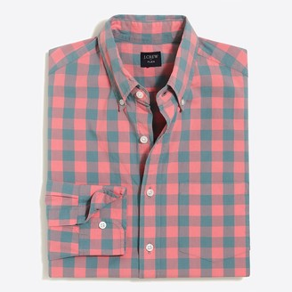 Mercantile Classic flex washed shirt in medium gingham