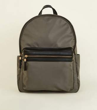 New Look Khaki Domed Backpack