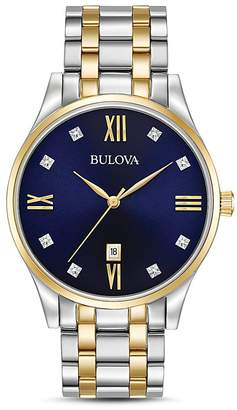 Bulova Two-Tone Diamonds Watch, 40mm