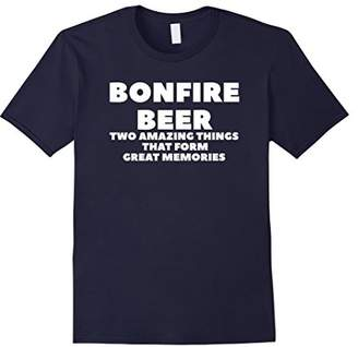 Bonfire Beer Form Memories Funny Camping T-Shirt