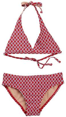 Toobydoo Casablanca Geo Print Bikini (Toddler, Little Girls, & Big Girls)
