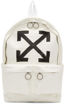 Off-White Off White White Brushed Arrows Backpack