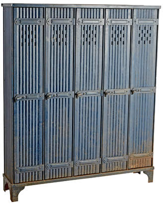 Rejuvenation Rare French Factory Lockers by Strafor in Original Paint