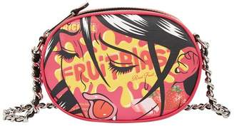 Moschino Leather Fantasy Print Clutch Bag