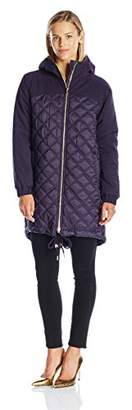 Juicy Couture Black Label Women's Hw Quilted Nylon Puffer Parka