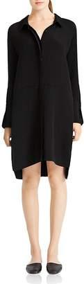 HALSTON HERITAGE Curved Hem Shirt Dress $325 thestylecure.com