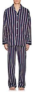 Derek Rose Men's Royal Striped Cotton Pajama Set - Navy