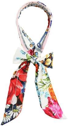 Dolce & Gabbana Maiolica Silk Satin Scarf Headband
