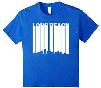 Vintage Long Beach California Skyline Cityscape T-Shirt