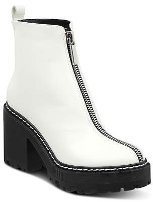 KENDALL + KYLIE Women's Jace Round Toe Leather Platform Booties