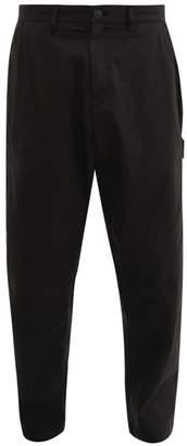 Stone Island Shadow Project - Cotton Blend Gabardine Cargo Trousers - Mens - Black