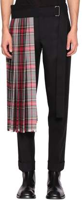 Dries Van Noten Check Wool Kilt
