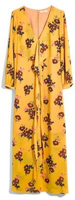 Madewell Retro Bouquet Wraparound Maxi Dress
