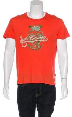 Just Cavalli Graphic Crew Neck T-Shirt