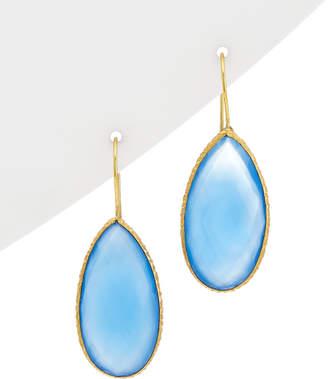 Rivka Friedman Signature Fine Jewelry 18K Clad Silver Chalcedony Drop Earrings
