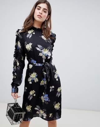 Gestuz Aia Floral Tie Waist Dress