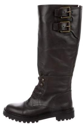 Belstaff Leather Lace-Up Boots w/ Tags