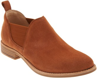 Clarks Leather Slip-On Booties- Edenvale Page