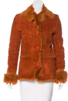 Fur Fur Lined Suede Jacket
