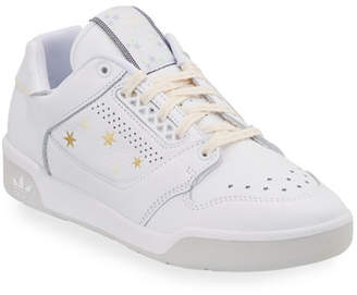 adidas Signature Leather Star-Print Sneakers