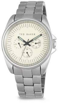 Ted Baker Round Stainless Steel Bracelet Watch