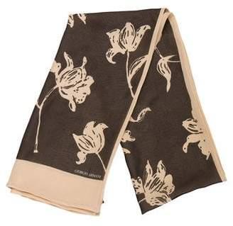 Giorgio Armani Silk Floral Scarf