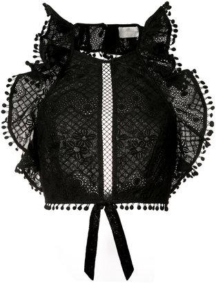 Zimmermann sleeveless ruffle bodice $350 thestylecure.com