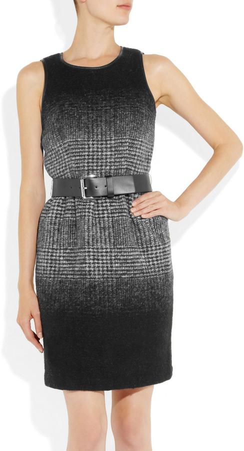MICHAEL Michael Kors Belted plaid wool-blend dress