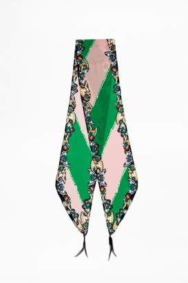 Zadig & Voltaire Silky Xl Stripe Scarf