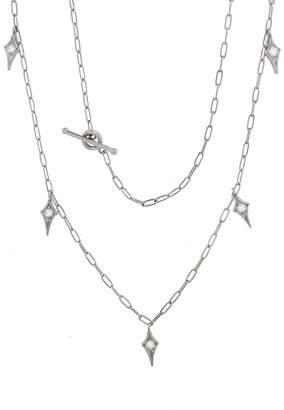 Cathy Waterman Diamond Fringe Spanish Chain Necklace