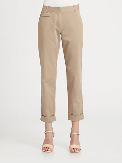 Theory Rumer Cuffed Chino Pants