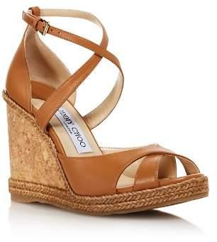 Jimmy Choo Women's Alanah 105 Cork Wedge Heel Sandals