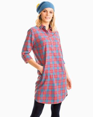 Southern Tide Alyssa Balsam Plaid Shirtdress