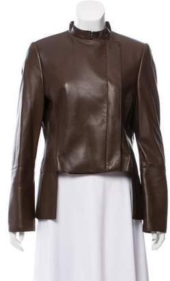 Akris Leather Tailored Jacket