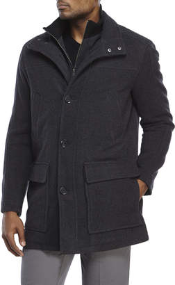 Cole Haan Wool-Blend Car Coat