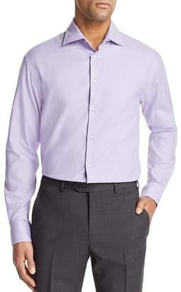 Emporio Armani Micro Check Regular Fit Button-Down Shirt