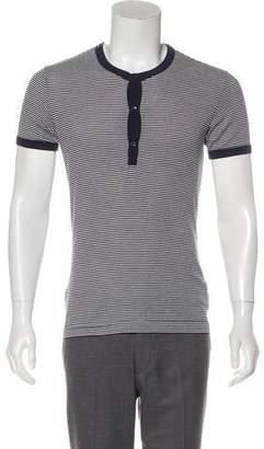 Dolce & Gabbana Striped Henley T-Shirt
