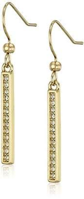 Karen Kane Linden Paks Pave Bar Drop Earrings
