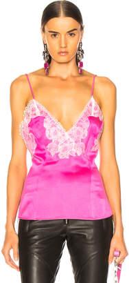 Amiri Lace Silk Slip Top