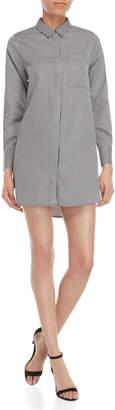 KENDALL + KYLIE Striped Lace-Up Shirt Dress
