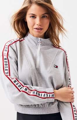 Tommy Hilfiger Mock Neck Cropped Sweatshirt