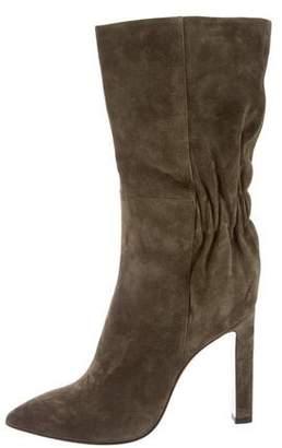 Santoni Suede Mid-Calf Boots