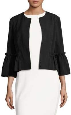 Eliza J Bell-Sleeve Cropped Jacket