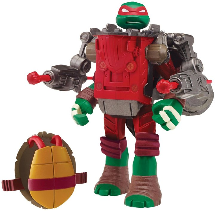 Teenage Mutant Ninja Turtles Mutations Raphael with Ground Pounder Battle Shell Action Figure