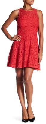 BB Dakota Fit & Flare Sleeveless Lace Dress