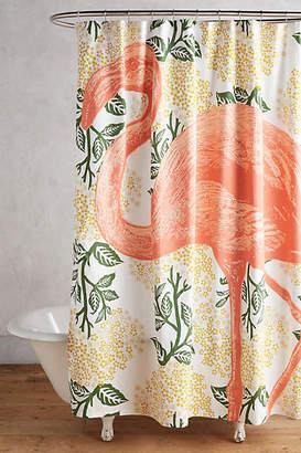 Thomas Paul Flamingo Shower Curtain
